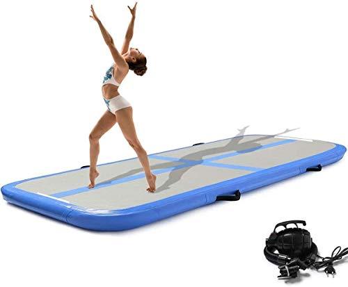 Onsoyours 400CM Aufblasbare Trainingsmatte Kohlefaser Tumbling Mat 20cm Höhe Gymnastik-Luftbahn mit Luftpumpe für Übungsgymnastik, Tumbling, Yoga
