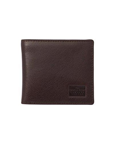 Savile Row Men's Chocolate Leather Classic Billfold Wallet