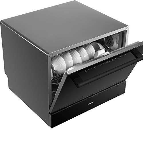 Garny Tischgeschirrspüler Automatische Aufsatzspülmaschine Tragbare Mini-Geschirrspüler, Rotationsspray 360 °, 5 Waschprogramme, Leicht Zu Reinigen
