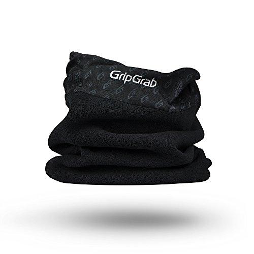GripGrab chusta termiczna z polaru - zimowy szal typu komin - przytulna chusta ocieplająca na szyję na rower, do uprawiania sportu, na co dzień czarny jeden rozmiar