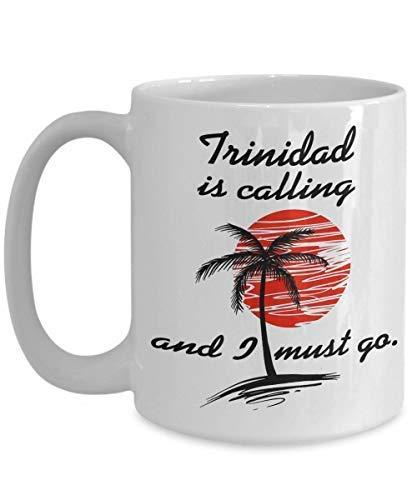 Trinidad is Calling Taza de café Trinidad Souvenirs Trinidad Vacation I Love Peru Taza de té Regalo Taza de café Taza divertida Regalo de té para Fathe