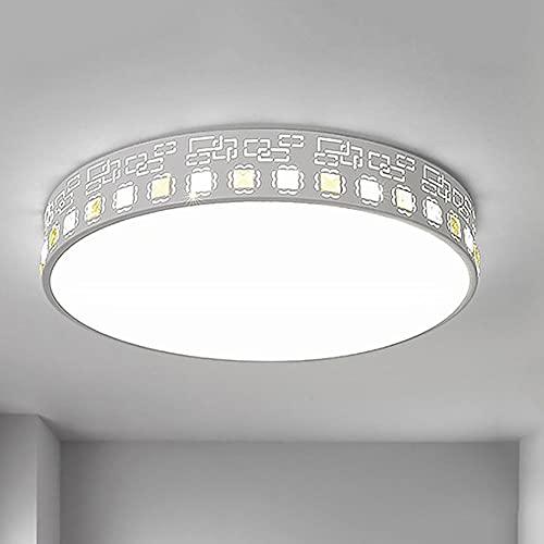MODEBHD Lámpara De Techo Minimalista Empotrada, Creativa Lámpara De Techo LED De Montaje Empotrado De 24 W, Regulable Cerca De La Luz del Techo para Sala De Estar, Dormitorio, Restaurante, Lámpara