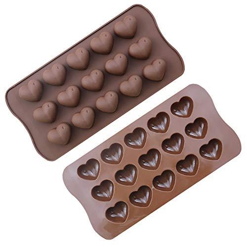 Jixista 2pcs Moules à Chocolat en Silicone moules à chocolat Moules en silicone pour chocolat Jelly Bonbons gâteau DIY Moules à chocolat Moules en silicone Candy Moule