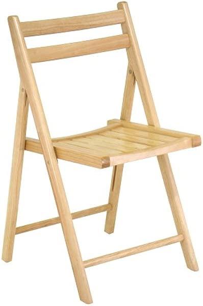 Winsome 木质折叠椅天然 4 件套