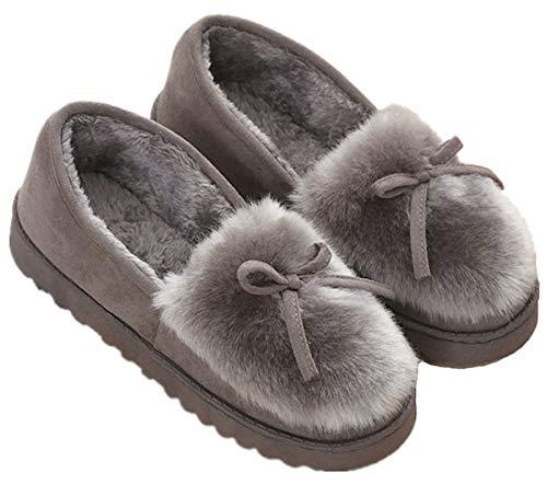 Zapatillas de Estar por casa para Mujer Slippers Comodos Pantuflas Zapatillas Invierno Peluche Algodón Mujer casa 2020 Zapatos Antideslizante