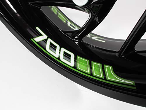 BIKE-label 790140VA Felgenbett Aufkleber Set für Motorrad Auto Felgen 16-21 Zoll grün Größe 700