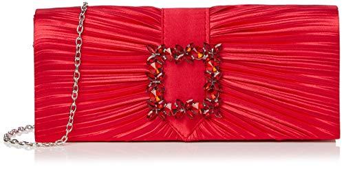 SwankySwans Chloe, Bolsa de Embrague para Mujer, Red, Medium
