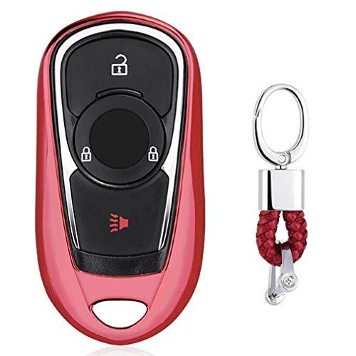 Rouge Auto clés Sac Housse de Protection pour Buick Lacrosse Regal Verano Encore Envision GL8 2/3/4/5-Buttons