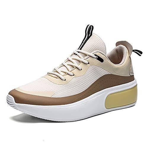 Mujer Zapatos Deporte Mujer Zapatillas Deportivas para Correr Caminar Gimnasio Transpirable Sneakers Beige 42