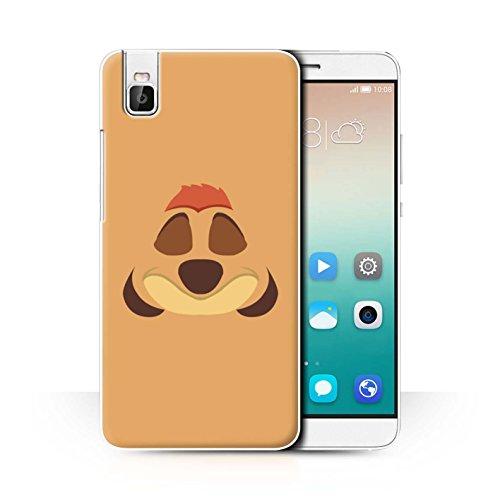 Hülle Für Huawei Honor 7i/ShotX Karikatur Afrikanische Tiere Timone Inspiriert Design Transparent Ultra Dünn Klar Hart Schutz Handyhülle Hülle