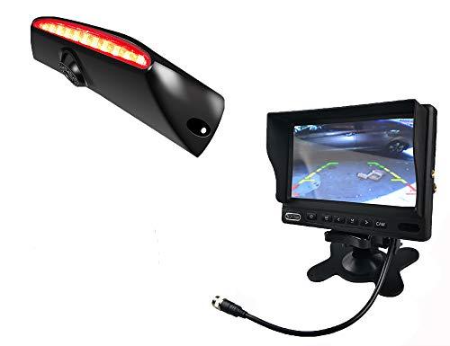 Vision de Nuit la Vue arrière imperméables IR Renforts troisième Frein lumière caméra pour iveco Utilisation Quotidienne pour 2011-2014 4 gen + 7 Pouces HD inverser rétroviseur surveiller