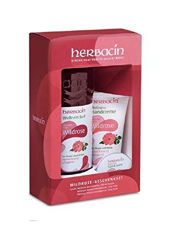 Herbacin Geschenk-Set Wildrose mit Wellness Bad und Handcreme