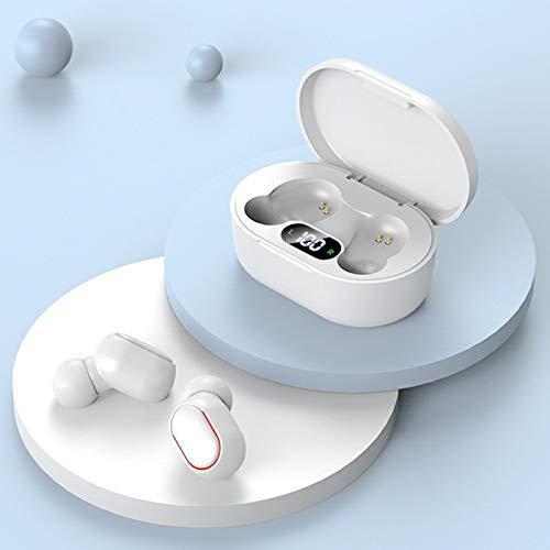Auriculares inalámbricos Bluetooth 5.0, IPX7, resistentes al agua, con cancelación de ruido, para Android IOS portátil, mini funda de carga portátil, control táctil en la oreja para correr