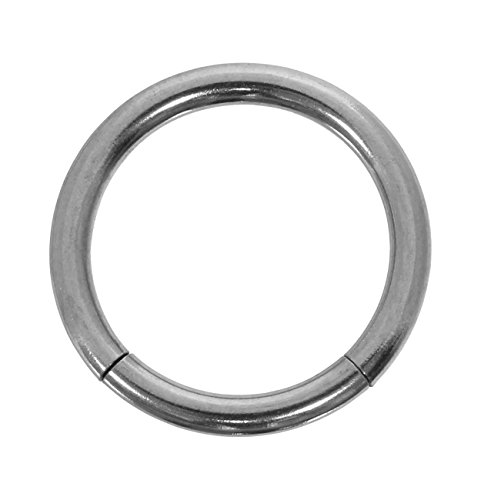 SE3 / Segment Ring 1.2 x 10 mm 316L Surgical Steel Smooth Closure Ring for Nose, Lip, Eyebrow, etc. by piercing-dreams