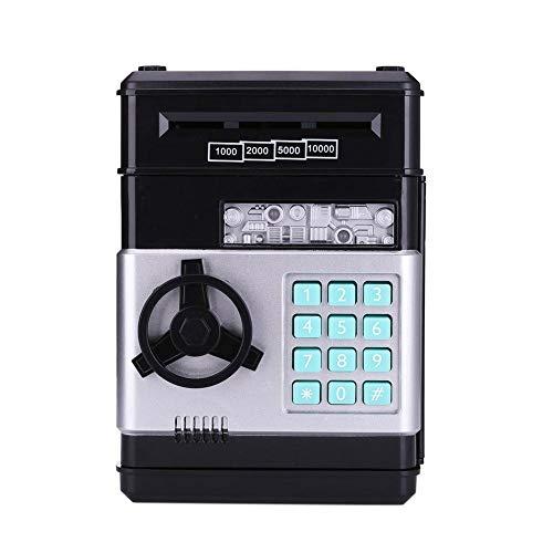 PPuujia Hucha electrónica automática con contraseña para dinero en efectivo, caja de ahorro de monedas, papel de desplazamiento automático, regalo para niños (color B: B)