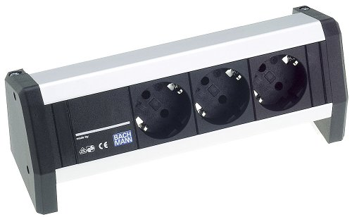 Velleman - Regleta con 3 tomas eléctricas, 2 puertos USB e interruptor