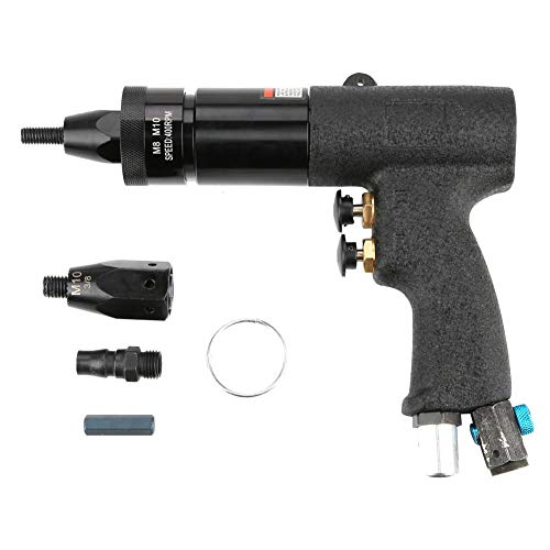 Pistola de tuerca neumática, pistola de remachado de aire Tuerca de extracción Herramienta de pistola de tuerca remachadora de aire automática Adecuado para todo tipo de placa de metal(M8 M10-KP-740A)