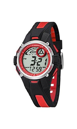Calypso Reloj Modelo K5558/5 de la colección Digital Crush, Caja de 35,68 mm Correa de Caucho Negro Rojo para Infantil A.PU101601001