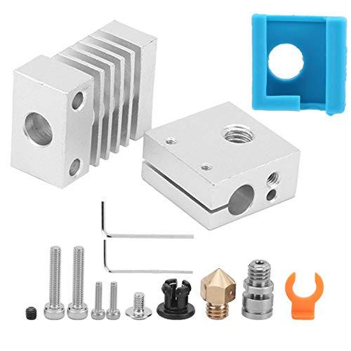 Rich & Varied All Metal Hotend Kit Heating Block 3D Printer Extruder Upgrade Kit 3D Printer Hot End Heating Block for CR-10/CR-10S/Ender-3/MINI