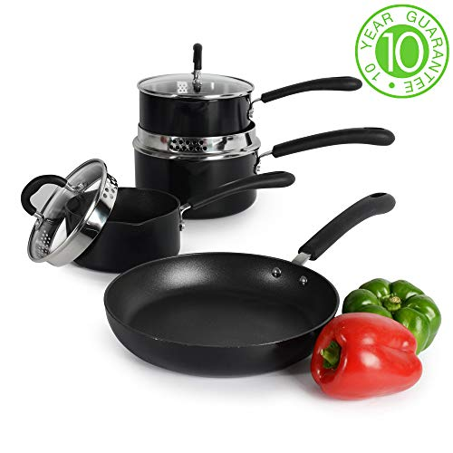 ProCook Gourmet Induction Stick-Resistant Strain-and-Pour Cookware Set