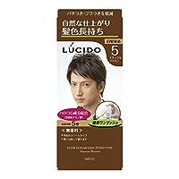 【マンダム】ルシード ワンプッシュケアカラー 5 ナチュラルブラウン 1剤50g・2剤50g ×5個セット