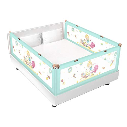 Find Bargain Children's Guardrail, Household Crib Guardrail Baby Vertical Lift Bed Guardrail Anti-Fall Bed Heightening Bed Fence (Color : B, Size : 200cm)