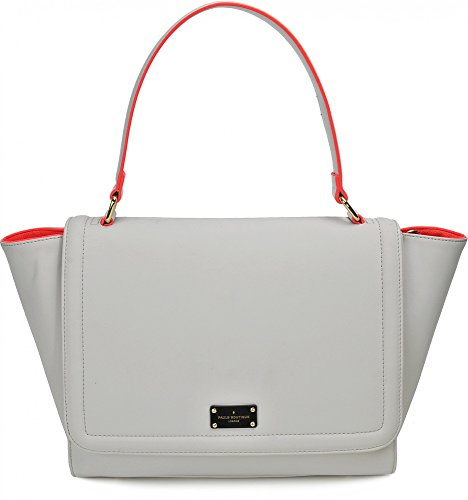 Pauls Boutique, Devin, Damen Handtaschen, Henkeltaschen, Shopper, Hellgrau Neonrot, 45 x 26 x 16 cm (B x H x T)