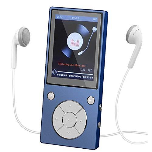 CCHKFEI Lettore MP3 Bluetooth da 32GB 2.4 pollici in metallo Bluetooth lettore MP3 con altoparlante radio FM registratore vocale per bambini studenti adulti lettore mp4