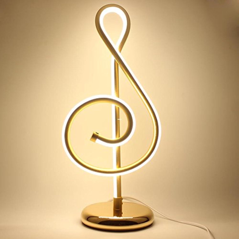 Vampsky Moderne Einfache Metall Aluminium LED Tischlampe Schlafzimmer Nachttischlampe Kreative Musik Symbol Form Persnlichkeit Wohnzimmer Studie Kunst Beleuchtung Acryl Schreibtisch Licht