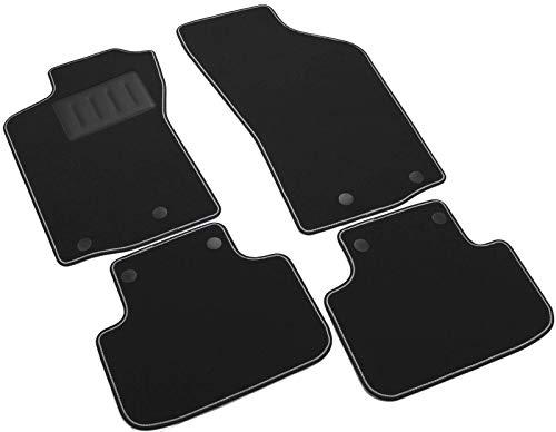 Il Tappeto Auto – Auto-Fußmatten-Set Sprint00100, Rutschfest, Farbe: schwarz, zweifarbiger Rand, Absatzschoner aus Gummi gefertigt, passgenau für folgendes Fahrzeugmodell: Alfa Romeo 147.