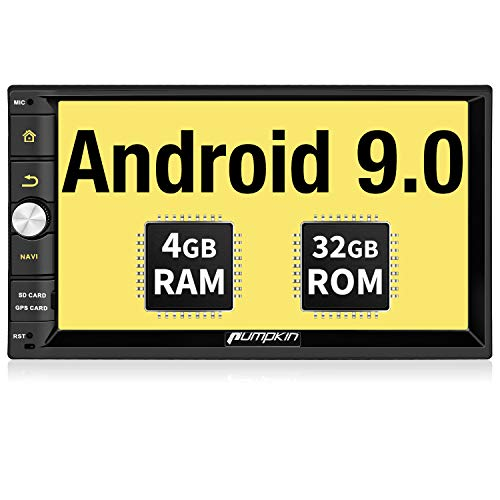 PUMPKIN Autoradio 2 din android 9.0 navigatore GPS 4GB RAM+32GB ROM da 7 pollici, avvio rapido, supporta Bluetooth 4.0/ Wifi/ DAB+/ Mirror-link / Controllo del volante/ USB/ SD/ AV-OUT/ 1080P Video