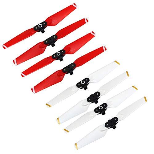 RC GearPro Props Palas Hélices de reemplazo 4730F Set Compatible para dji Spark Drone, 4PCS / Set (White+ Red)