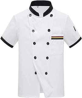 Giacca da chef INS08 nera con bordo bianco a contrasto unisex
