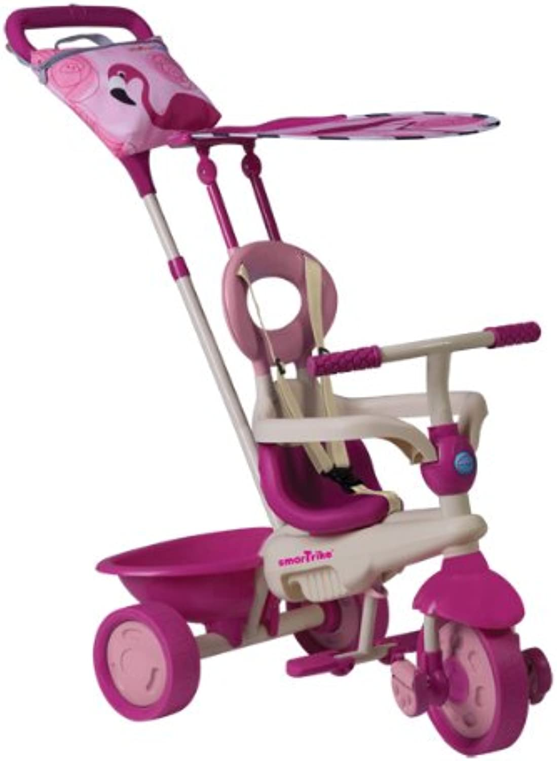 Smartrike Safari Tricycle Touch Steering Pink   White