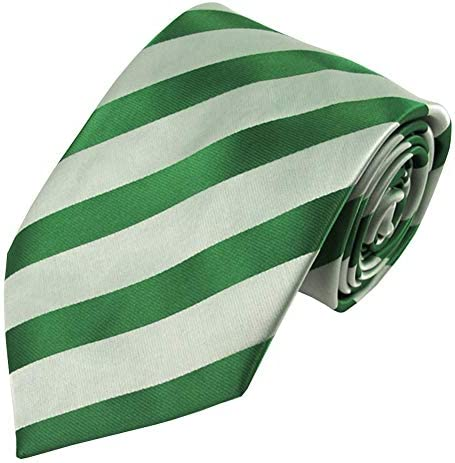 Jacob Alexander Boys Prep Regular Stripe Tonal Neck Tie Kelly Green product image