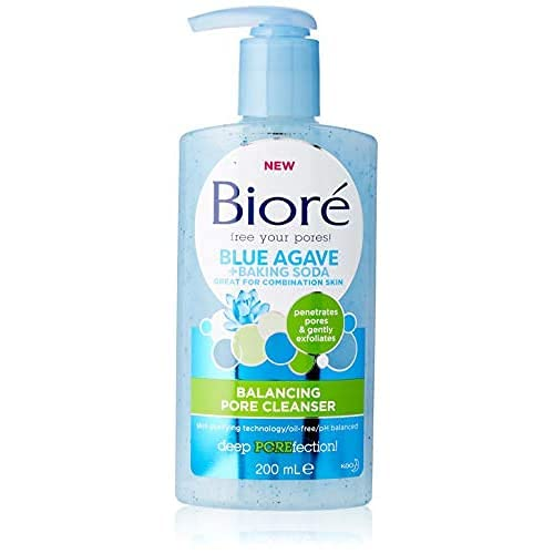 Biore Blue Agave + Baking Soda Pore Balancing Cleanser for Combination Skin 200 ml