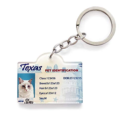 Custom Pet Driver License ID Tags, Custom Pets ID Tags, Personalized Driver's License Tags for Pet, Pet ID Tags Personalized, Cat License id Tags Personalized, Dog Funny License ID Tags Personalized