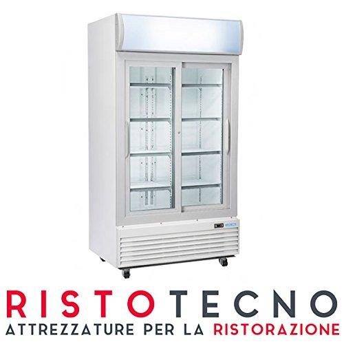 Frigo vetrina Bibite. Lt. 970 – Dim.cm. 120x73x203,6H. – Ante scorrevoli