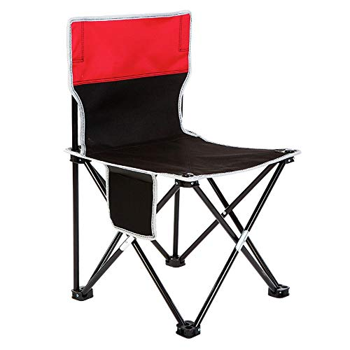 ZSLLO Campingstoel Rugleuning outdoor draagbare klapstoel anti-slip viskruk schets reizen strandstoel opgesteld kleine bank camping barbecue stoel oxford doek wasbaar Vouwstoel