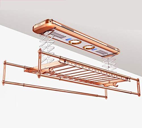 NANXCYR droogrek voor montage aan het plafond, wasmachine, met reiniging van negatieve ionen en droge windventilator, LED, UV, voor sterilisatie optioneel, goudkleurig, 6008BF