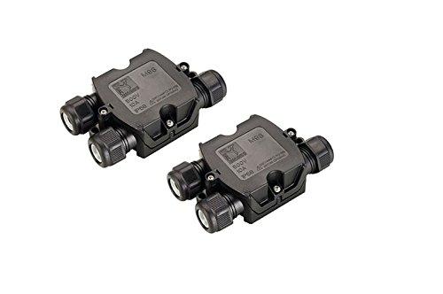 2er Set SLV 3fach Verbindungsbox Kabelverbinder Verbindungsmuffe für Erdkabel IP68