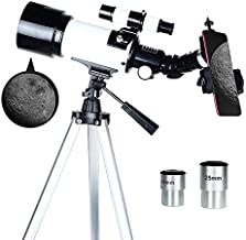 BXGTECH Telescope 70 mm Astronomical Telescopes with Tripod Phone Adapter Portable Refractor Telescope for Kids Child Adults Beginners