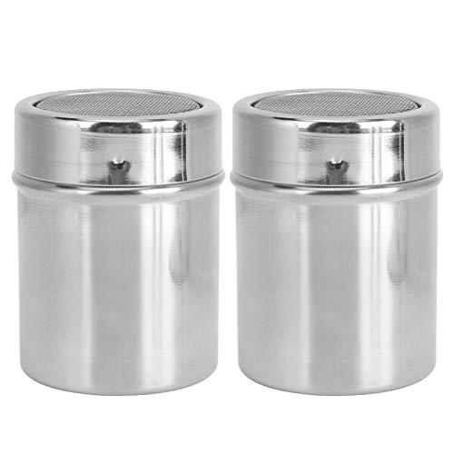 Agitateur d'assaisonnement pour ustensiles de cuisine, tamis à poudre en acier inoxydable antirouille 2 pièces, durable pour poivre de sel