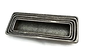 """Furniture Cabinet Flush Handle 5.75"""" X 2.25"""" Classic Old Silver Oasi Collection"""