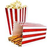 Ouinne Scatole di Popcorn, 24PCS Scatole Popcorn Sorpresa Modello di Banda Decorativi per il Partito per i Favori del Partito di Film (Rosso)