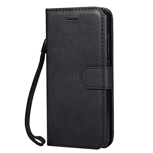 Hülle für Xiaomi Redmi 4A Hülle Handyhülle [Standfunktion] [Kartenfach] Tasche Flip Hülle Cover Etui Schutzhülle lederhülle flip case für Xiaomi Redmi 4A - DEKT051873 Schwarz