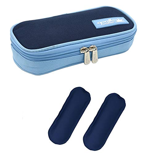 DCCN Insulin Cool Bag Diabetic Organizer Portable Medical Travel Cooler Case+ 2 Ice Packs