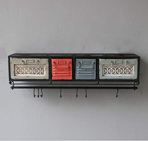 XYZX Boekenkast, ladekast, retro ijzer, woord, partitie, creatieve wandplanken, decoratieve frames