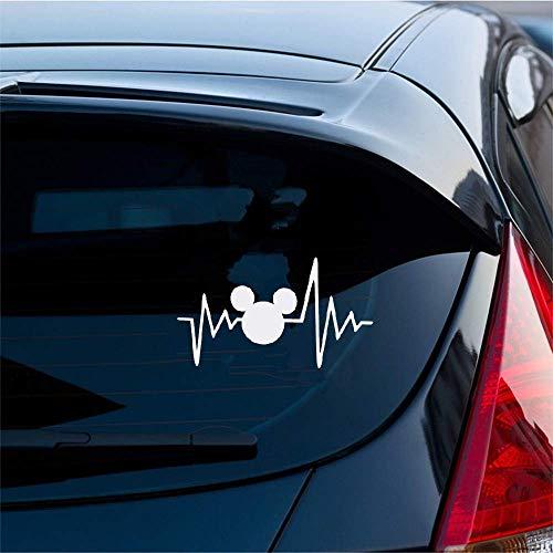 Autoaufkleber 18x10,2 Cm Disney Leben Herzschlag Nette Und Interessante Mode Aufkleber Decals Car Wrap Auto Aufkleber Decor Decals Für Auto Laptop Fenster Aufkleber