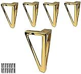 ZXLRH Patas para Muebles de 4 piezas-15,5 cm / 6'Patas de Metal para sofá, Patas Negras de Estilo Moderno para Muebles, Patas de Repuesto para armarios, sofá, sillón, Cama, Patas de Cama de